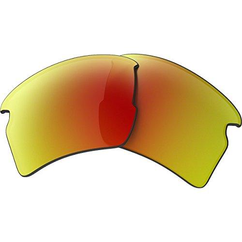 Ruby Iridium Lens (Oakley Flak 2.0 XL Replacement Lens Ruby Iridium Polarized, One)