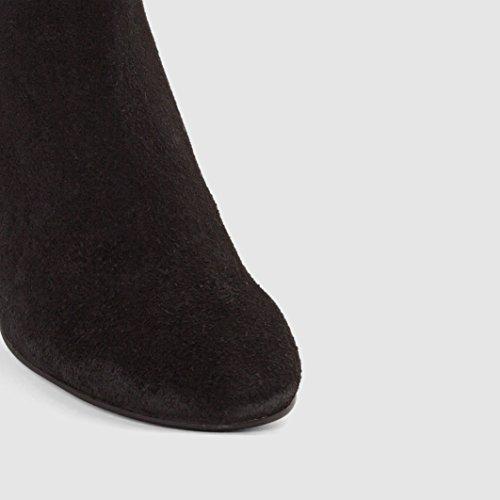 Jonak Frau Boots Quotdardaquot, Veloursleder, Fransen, Absatz Gre 39 Schwarz