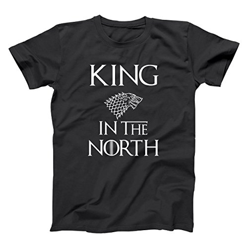 King in The North Jon Snow GoT Thrones Mens Shirt Large Black (The King In The North Game Of Thrones)