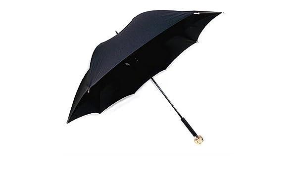 LuK aceite Creative paraguas mango cabeza de zorro paraguas largo paraguas para hombres y mujeres mango largo paraguas Manual: Amazon.es: Jardín