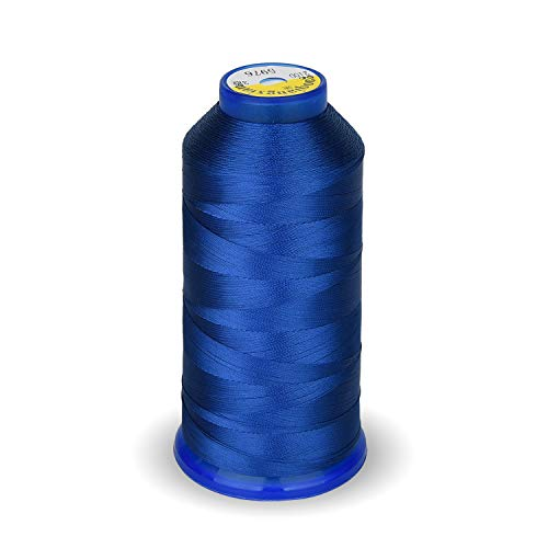 High Strength Polyester Thread Nylon Sewing Thread 1800 Yard Size T70#69 210D/3 for Weaves, Upholstery, Jeans and Weaving Hair, Drapery, Beading, Purses, Leather (Royal Blue) ()