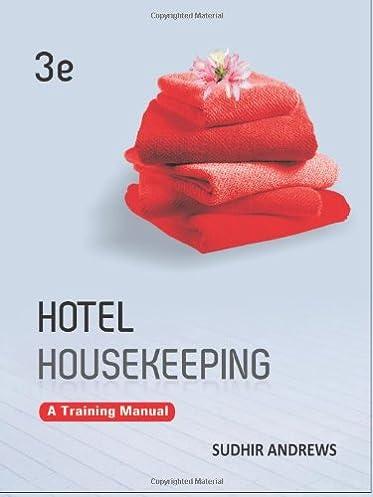 hotel housekeeping a training manual sudhir andrews 9781259026911 rh amazon com Hotel Housekeeping Training Topics Housekeeping Operations Manual