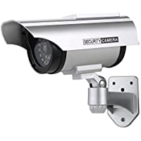 Annke Solar Powered Dummy Fake Security Camera with Flashing Red LED for Indoor and Outdoor Use