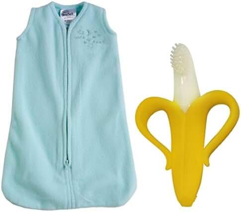 HALO SleepSack Microfleece Wearable Blanket with Banana Brush, Preemie, Mint
