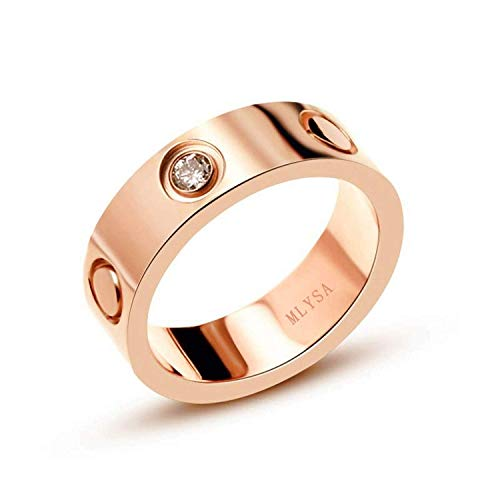 (K.Klemm Love Zircon Ring-Rose Gold Lifetime Just Love You with Ring 6MM in Width Sizes 11)