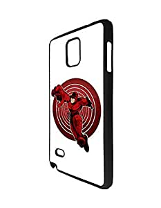 Samsung Galaxy Note 4 Kawaii Fundas Case Solid Fundas Case, Popular Daredevil Pattern Fundas Case Cover for Samsung Galaxy Note 4 for Fans/Athletic