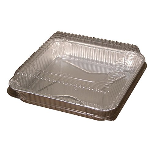 Pactiv Window Pack Full Curl Combo Cake Pan Silver, 7.875'' Length x 7.875'' Width | 100/Pack by Pactiv