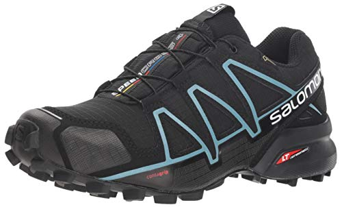 Negro Blue De Mujer Impermeable Salomon Para Running Speedcross metallic black Trail Gtx Calzado 4 Bubble black vZpIH