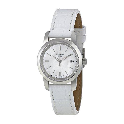 Pearl White Watch (Tissot Women's TIST0332101611100 Classic Dream Analog Display Quartz White)