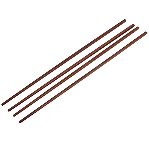 uxcell Uxcell Wooden Noodles Cooking Chopsticks 42cm Length 2 Pairs Brown Ancient Chinese Chopsticks