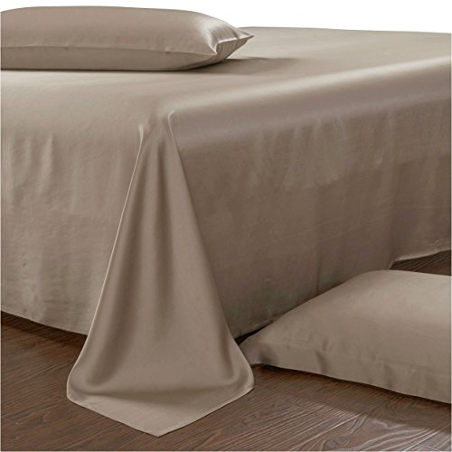 - Luxury Silk Sheets, 100% Mulberry Silk Bedding Set 22 Momme Charmeuse Silk Bed Sheet Set (King, Bright Coffee)