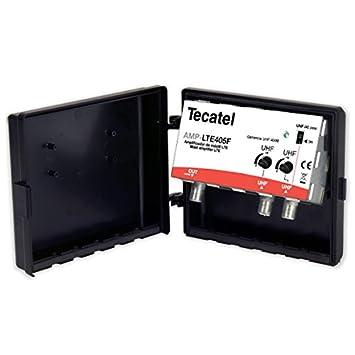 Tecatel AMP-LTE405F - Amplificador mástil 40 dB UHF-UHF LTE, Color Blanco: Amazon.es: Electrónica