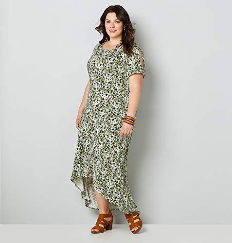 - Avenue Women's Animal Print Hi Lo Dress, 14/16 Green