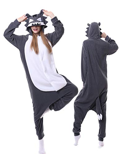 Adult Wolf Unisex Sleepwear One Piece Pajamas Animal