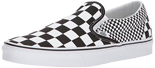 Vans Unisex Adults' Classic Slip on Trainers, Black ((Mix Checker) Black/True White Q9B), 7.5 UK 41 EU