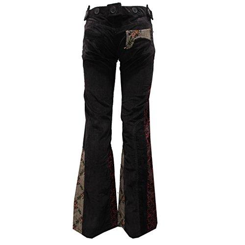 Trouser Vintage Barcelona Woman Nero Donna Pant 8400U Custo Pantalone ISHZYS
