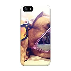 New Snap-on Jeffrehing Skin Case Cover Compatible With Iphone 5/5s- Animals Dogs Sunglasses