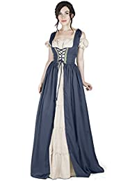 Boho Set Medieval Irish Costume Chemise and Over Dress