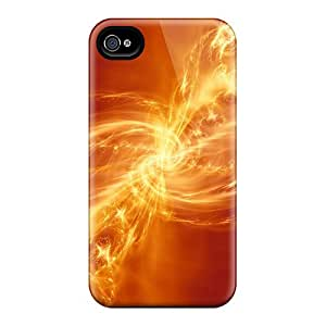 Anti-scratch And Shatterproof Abstract Fire Phone Case For Iphone 4/4s/ High Quality Tpu Case