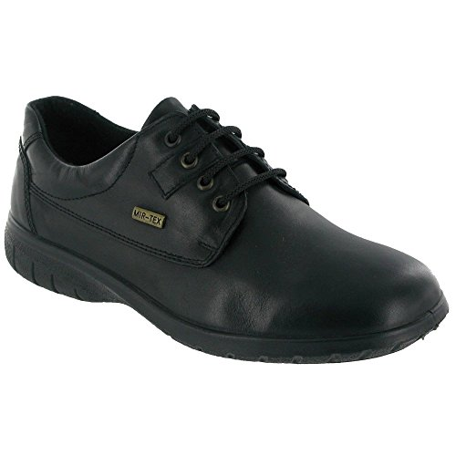 Black ladies Waterproof Lace Ruscombe Leather Shoes Cotswold Up A1wx10