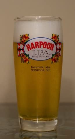 set of 2 Boston Harpoon IPA Beer Glasses MA.