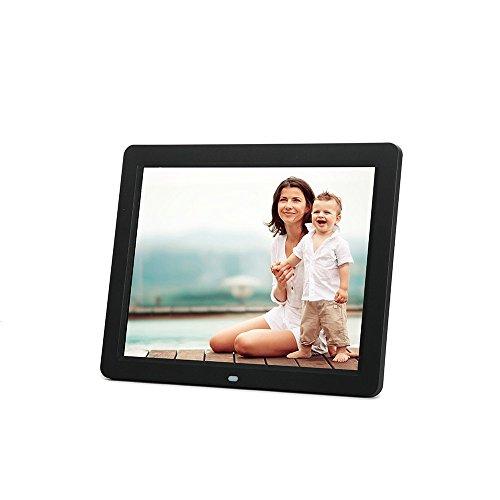 "Minidiva 12"" HD LED 4:3 Digital Picture Frame - Photo Display with Max 32GB Storage(Black)"