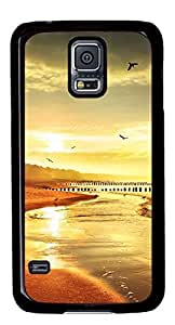 Beach Beautiful Scene DIY Hard Shell Black Designed For Samsung Galaxy S5 I9600 Case