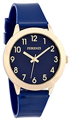 Ferenzi Women's | Fun Blue on Blue Watch with Gold-Tone Case and Gloss Strap | FZ15605