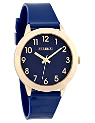 Ferenzi Women's | Fun Blue on Blue Watch with Gold-Tone Case and Gloss Strap | FZ15601