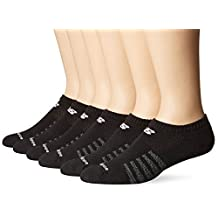 New Balance Men's 6 Pack Core Cotton No-Show Socks, (6 Pack/ Pack)