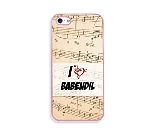 Babendil Pink Silicon Bumper iPhone 5 & 5S Case - Fits iPhone 5 & 5S