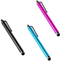 Importer520 3 Pack of Black Blue Pink Stylus Universal Touch Screen Pen for Samsung Rugby Smart i847 (AT&T)