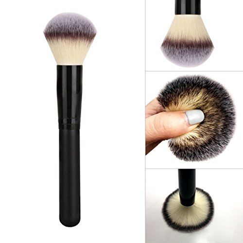 1 Piece Nylon Hair Makeup Brush Set Powder Cosmetics Make Up Tool Professional Natural Beauty Palettes Eyeshadow Vanity Excellent Popular Eyes Face Colorful Rainbow Highlights Glitter Teens Travel Kit Mineral Finishing Powder Refill