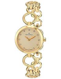 Grovana Women's 4569-1111 Ladies Dress line Analog Display Swiss Quartz Gold Watch