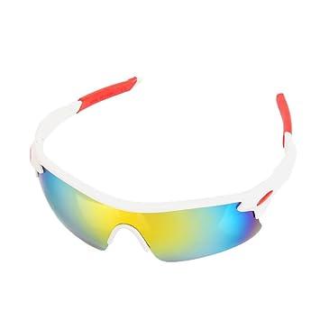 CBTek Gafas de Sol Polarizadas UV400 Ciclismo Exteriores (White Rainbow)