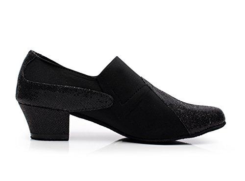 Tango Suede On Latin Minitoo Slip Black Shoes Salsa Modern Ballroom Womens Dance QJ708 TwWqCH0