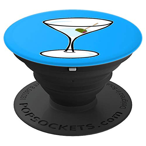 - Fun Martini Pop Socket Blue - PopSockets Grip and Stand for Phones and Tablets