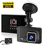 Dash Cam Recorder 3.0 LCD FHD 1080P with Rear view camera Car DVR Dashboard Camera Video Recorder with 170°Wide Angle Night Vision, G-sensor, WDR, Loop Recording, Motion Detection, and Parking Monitor