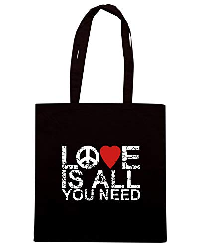 Shopper ALL Nera Borsa LOVE IS TLOVE0119 UPBvAW