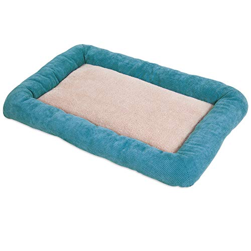 SNOOZZY 29X18 LOW BUMPER CRATE MAT ~ TEAL