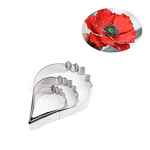 (Best Quality - Pottery & Ceramics Tools - Stainless Steel Peony Hibiscus Poppy Petals General Cutter Mold 3D Soft Paper Clay Flower Modeling Cutter Tool - by GTIN - 1 PCs)