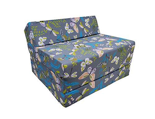 Matelas lit 200 x 70 cm fauteuil futon pliable pliant choix des couleurs – longueur 200 cm (001)