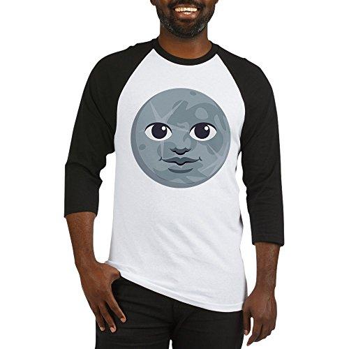 CafePress Moon Emoji - Cotton Baseball Jersey, 3/4 Raglan Sleeve (Moon Baseball Jersey)