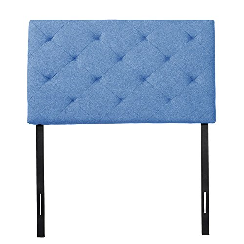CO-Z Twin Size Upholstered Head Board Fabric Diamond Pattern with 4 Adjustable Positions (Twin, Turquoise) -  HBFTWINTE