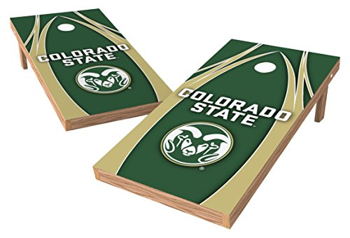 Wild Sports NCAA College Colorado State Rams 2' x 4' V Logo Authentic Cornhole Game Set