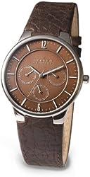 Skagen Men's 331XLSLD1 Steel Brown Leather Multi-Function Watch