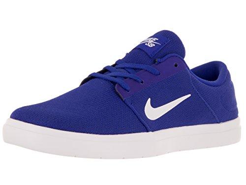 Zapatillas Nike Sb Portmore Ultralight Racer Azul / Blanco / Dp Royal Blue Skate 13 Hombre US