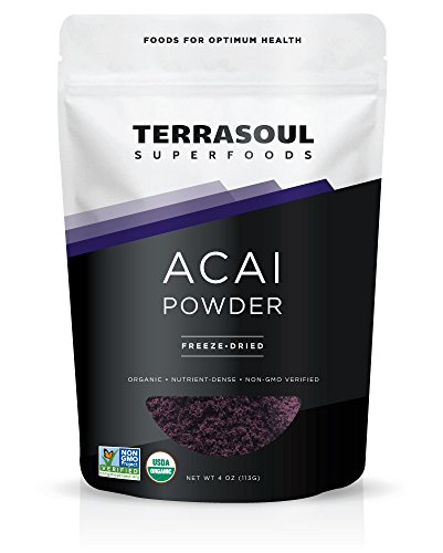 Terrasoul Superfoods Acai Berry Powder (Freeze-dried, Organic), 4-ounce