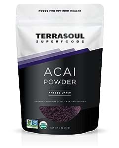 Terrasoul Superfoods Acai Berry Powder (Freeze-dried, Organic), 4-ounce
