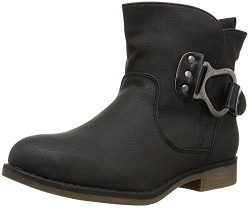 Muk Luks Womens Hayden Bootie Wheeled Heel Shoe Black k1GR3LM